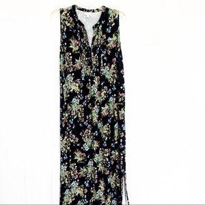 J Jill Floral Maxi Dress Size Large